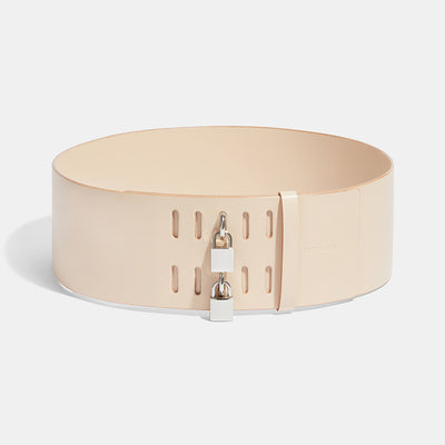 DOUBLE PADLOCK BELT - NATURAL
