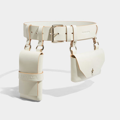 DOUBLE POCKET BELT IVORY