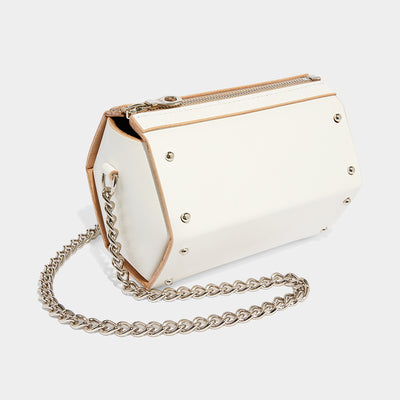 MINI HEXAGON BAG - IVORY