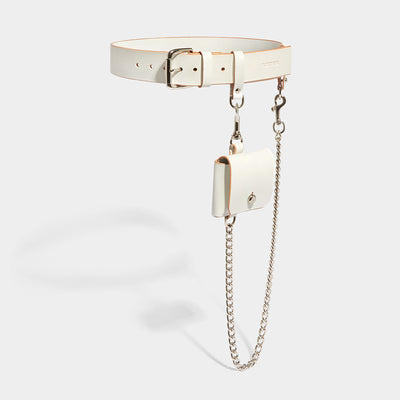 POCKET CHAIN BELT - IVORY