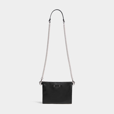 CHAIN FLAT POUCH BLACK