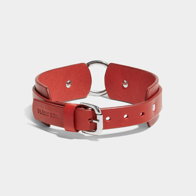 CHUNKY O-RING COLLAR - RED