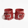 CORNER STUDDED CUFFS RED