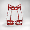 CURVED CUT OUT SUSPENDER HARNESS - RED