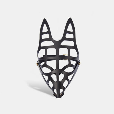 SKULL FOX MASK - BLACK