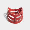 CUT OUT POSTURE COLLAR RED