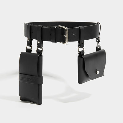 DOUBLE POCKET BELT BLACK
