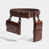DOUBLE POCKET BELT - BROWN