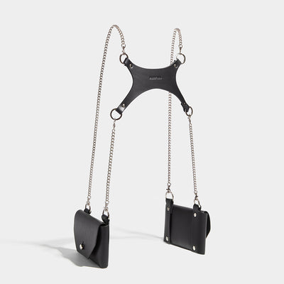 DOUBLE POCKET CHAIN HARNESS - BLACK