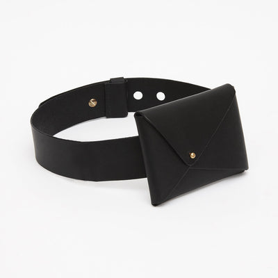 FOLDED MONEY BELT - BLACK
