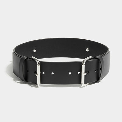 FOUR BUCKLE BELT BLACK
