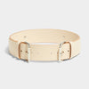 FOUR BUCKLE BELT NATURAL