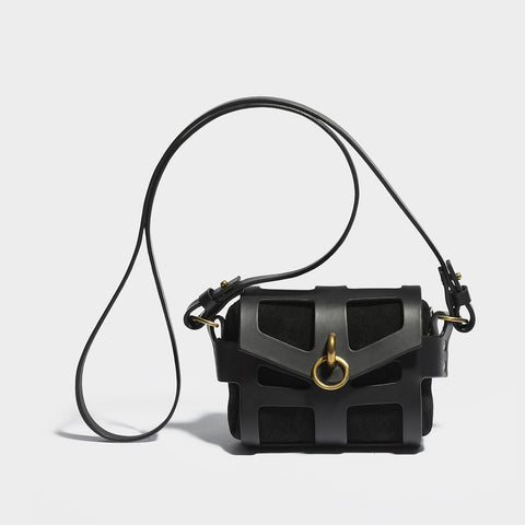 O-RING TINY CAGE BAG BLACK