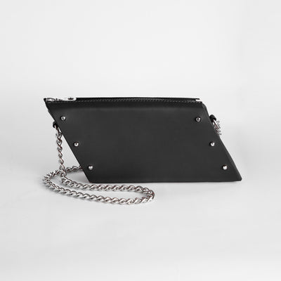 MINI PARALLELOGRAM CLUTCH BLACK