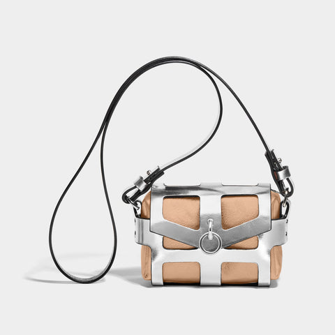 O-RING TINY CAGE BAG - SILVER & COPPER