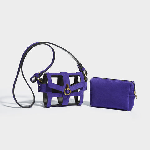 PURPLE O-RING TINY CAGE BAG