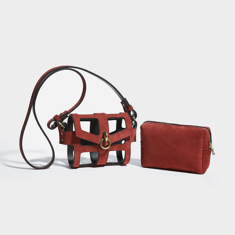 RED O-RING TINY CAGE BAG