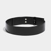 PADLOCK BELT BLACK PATENT