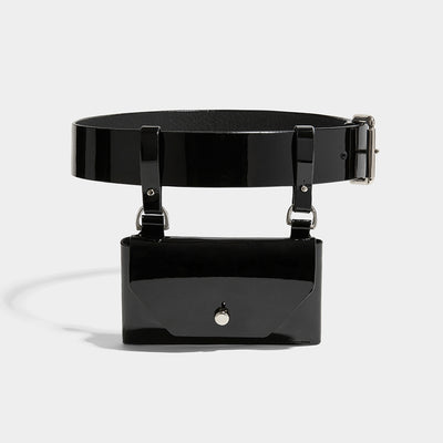 POCKET BELT BLACK PATENT