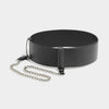 SLIM CHAIN BELT - BLACK