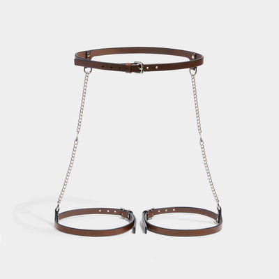 SLIM CHAIN SUSPENDER HARNESS - BROWN