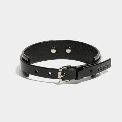 SLIM WING COLLAR BLACK PATENT