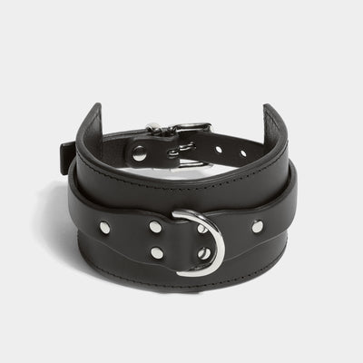STITCHED CLASSIC COLLAR - BLACK