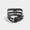 STUDDED CUT OUT POSTURE COLLAR BLACK