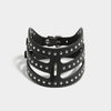 STUDDED CUT OUT POSTURE COLLAR