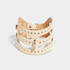 STUDDED CUT OUT POSTURE COLLAR NATURAL