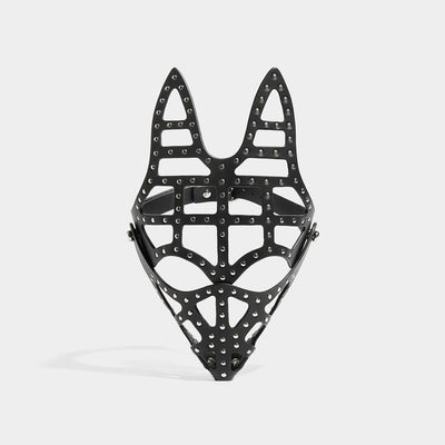 STUDDED SKULL FOX MASK