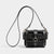 STUDDED O-RING TINY CAGE BAG BLACK