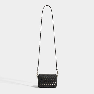 STUDDED POUCH BAG BLACK