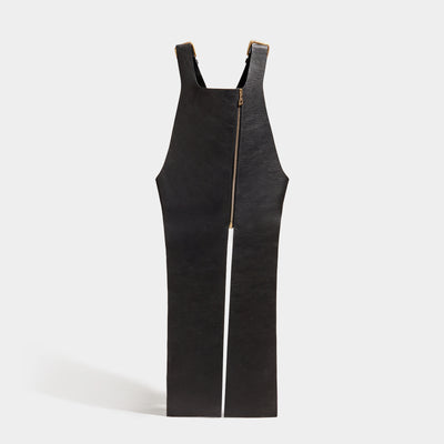 SOFT ZIP APRON - BLACK