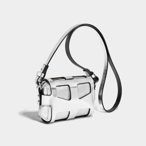 TINY CAGE BAG - SILVER