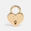 PERSONALISED BRASS HEART PADLOCK