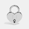 PERSONALISED SILVER HEART PADLOCK