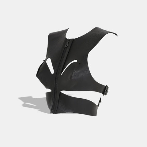 SOFT CROPPED CUT OUT HARNESS BLACK