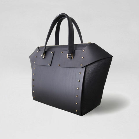 DIAMOND SCULPTED TOTE BLACK