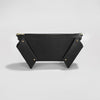 WINGED BOX CLUTCH BLACK