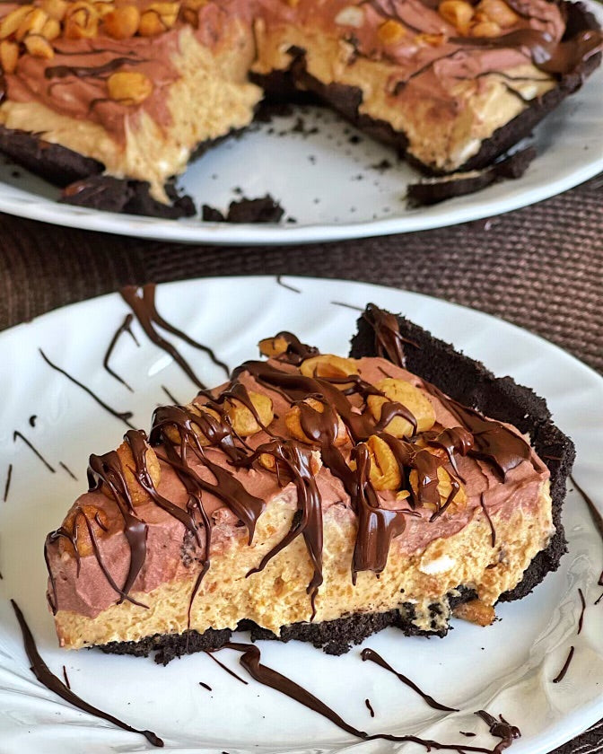 "No Bake ""Peanut Butter"" Pie (Nut Free, Vegan, GF)"