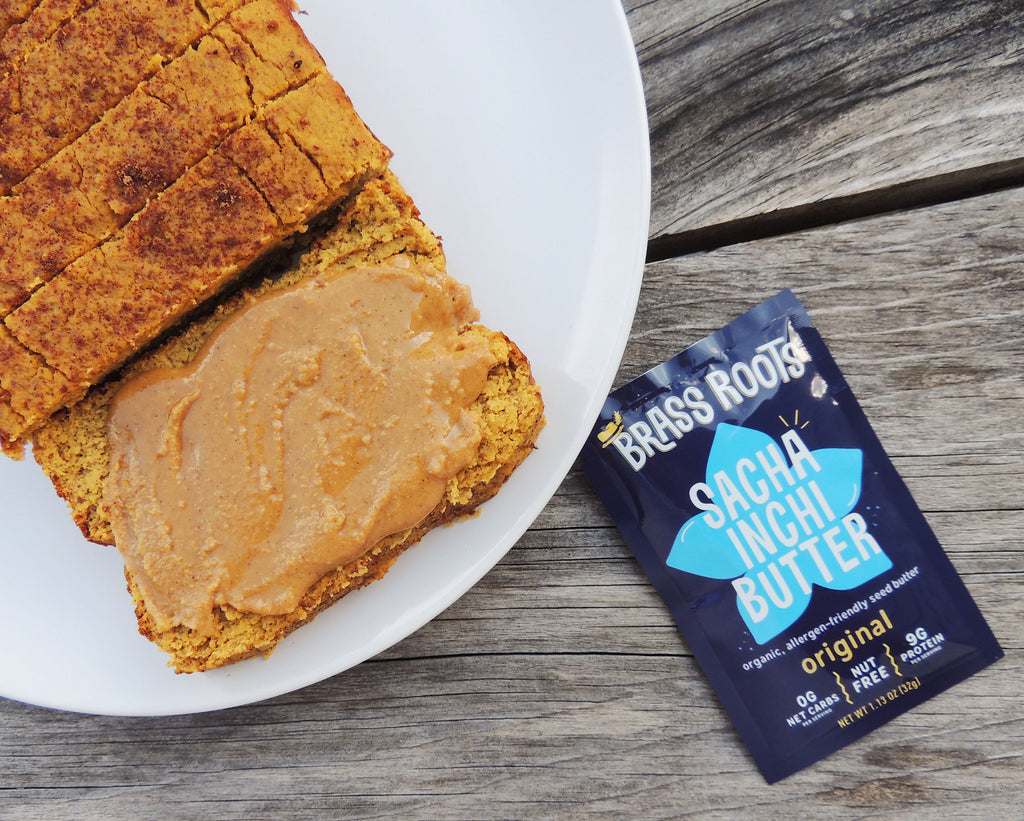 Nut-Free Hearty Pumpkin Snacking Bread [Gluten Free, Vegan Option]