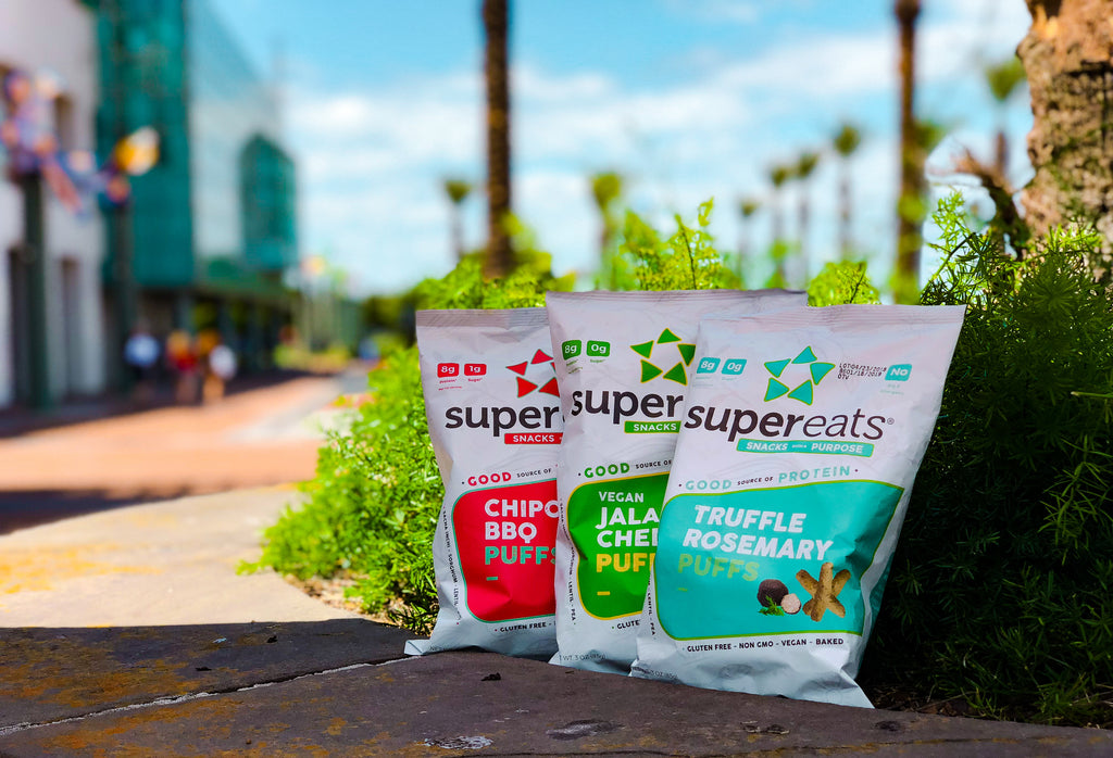supereats plant based protein puffs no sugar low carb