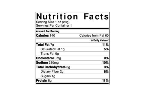 supereats nutrition facts