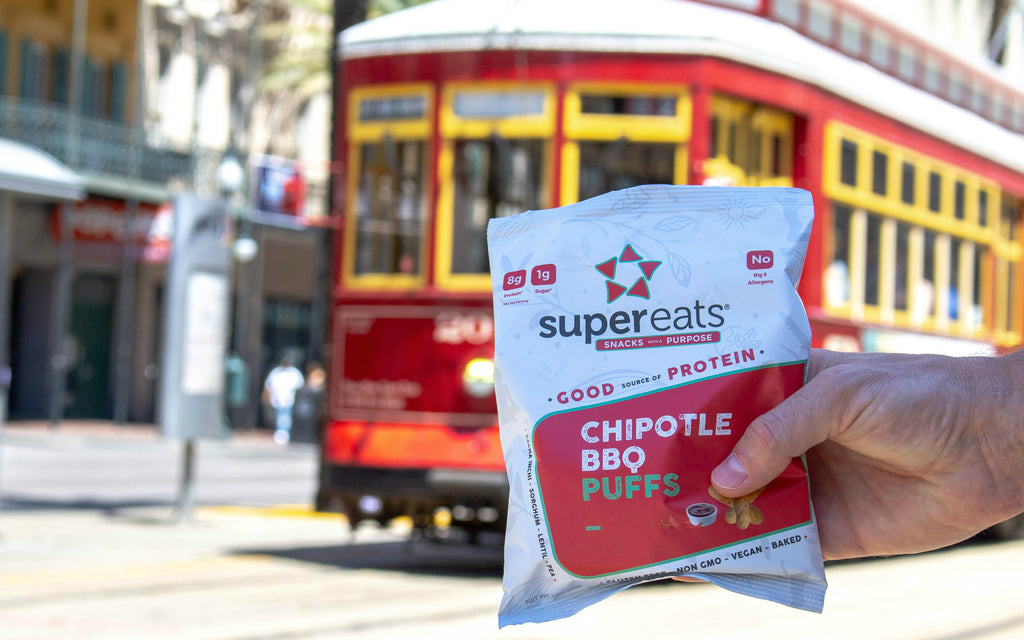 supereats plant based protein puffs low carb no sugar