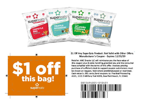 supereats $1 off coupon