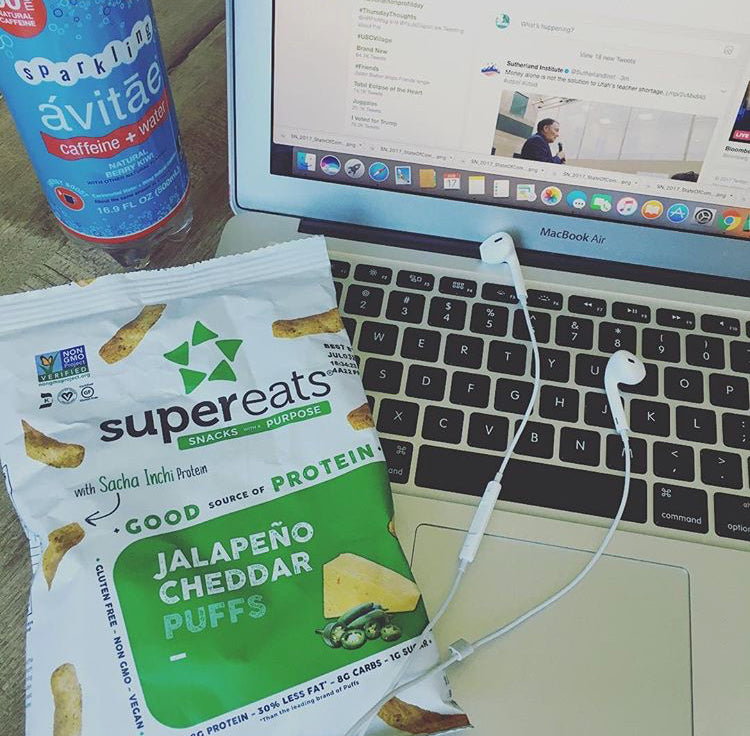 supereats plant based protein puffs office snacks