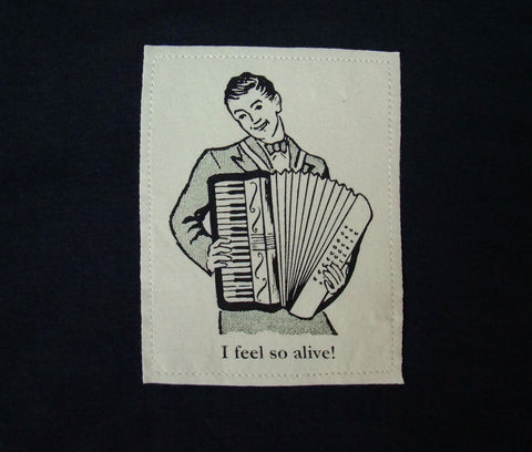 Accordion player.  shirt S-XXL