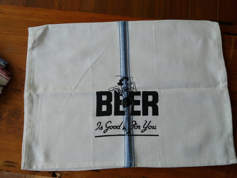 Beer is good for you! Brooklyn Stripe Tea Towel. $20