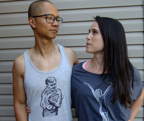 Check out my guns. Men's tank  S - XL